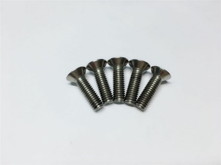 M3,M6 titanium screw flat head socket head cap titanium flange screws for spinal surgery