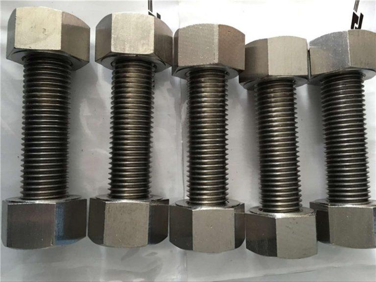 nickel alloy 400 en2.4360 fully thread rod with nuts fastener