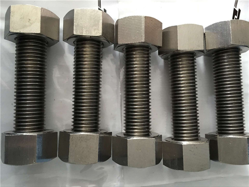 Nickel alloy 400 EN2.4360 fully thread rod with nuts fastener