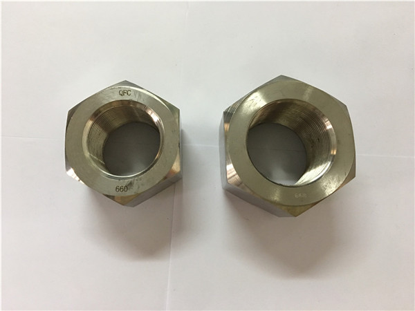 manufacture nickel alloy a453 660 1.4980 hex nuts