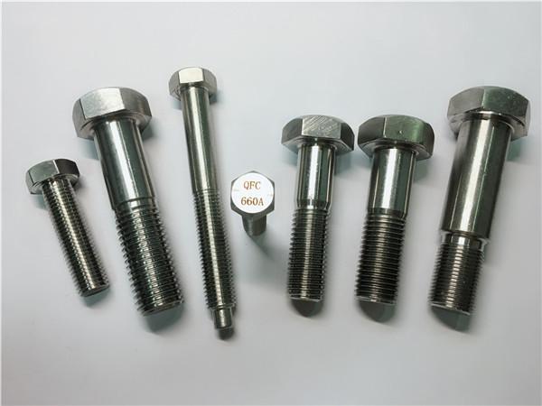 qualified hex cap screw a453 gr.660 din 1.4980 alloy