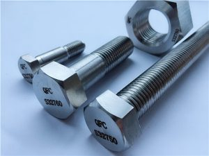 Үгүй 53-F55 S32760 1.4501 2507 HEX NUTS & BOLTS FASTENERS