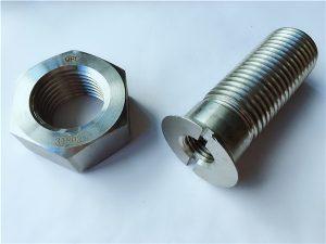kualitas No.55-High duplex 2205 bolts stainless steel sarta kacangan