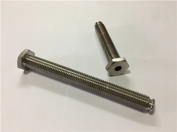 No.64-Hollow Titanium Fastener with Through Hole Titanium alloy 6Al4V Dish Head Allen Key
