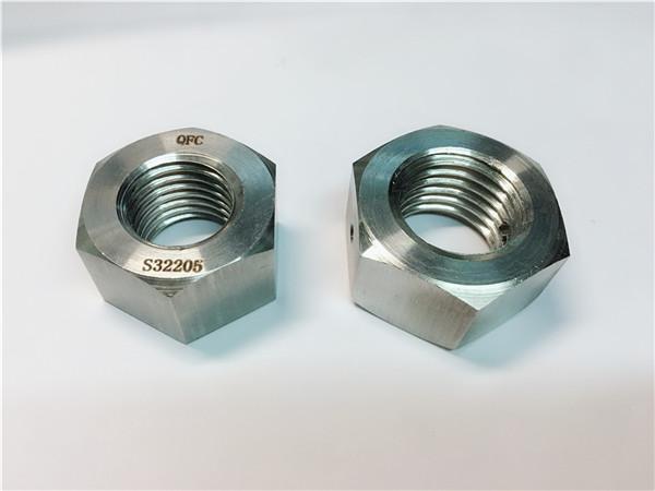 No.76 Duplex 2205 F53 1.4410 S32750 parafusos de aço inoxidável porca sextavada pesada