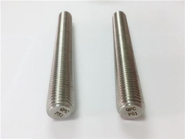 duplex2205/s32205 stainless steel fasteners din975/din976 threaded rods f51