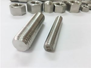 f55/zeron100 stainless steel fasteners full threaded rod s32760