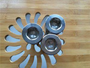 high quality ASEM hex socket titanium gr2 screw/ bolt/ nut/washer/