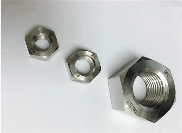 duplex 2205/f55/1.4501 / s32760 stainless steel fasteners heavy hex nut m20